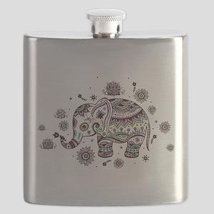 Cute Pastel Colors Floral Elephant Flask