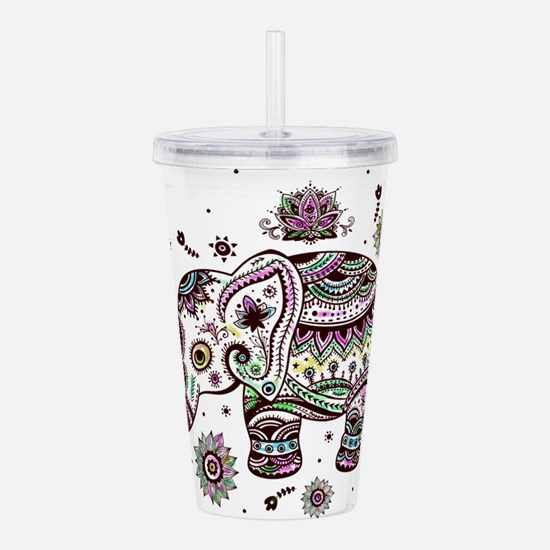 Cute Pastel Colors Flo Acrylic Double-wall Tumbler