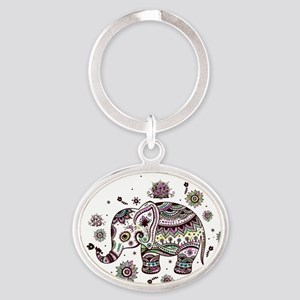 Cute Pastel Colors Floral Elephant Keychains