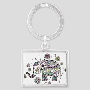 Cute Pastel Colors Floral Elephant Keychains