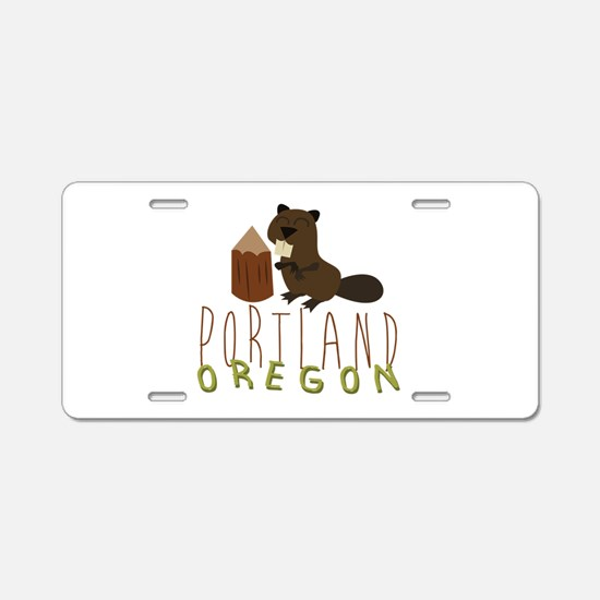 Portland Oregon Aluminum License Plate