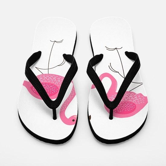 Cute air Of Pink Flamingos Flip Flops