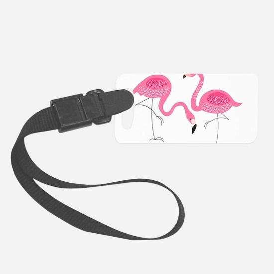 Cute air Of Pink Flamingos Luggage Tag
