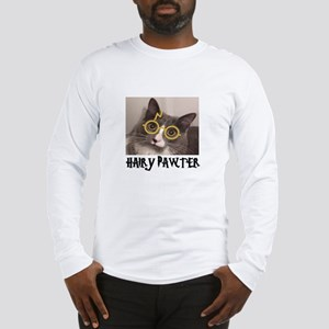 CATS - HAIRY PAWTER Long Sleeve T-Shirt