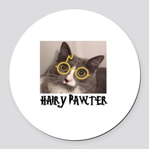 CATS - HAIRY PAWTER Round Car Magnet