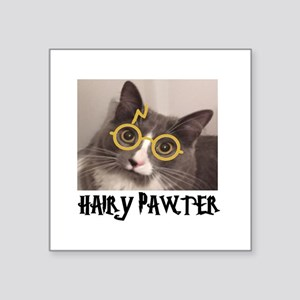 """CATS - HAIRY PAWTER Square Sticker 3"""" x 3"""""""