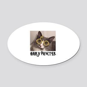 CATS - HAIRY PAWTER Oval Car Magnet