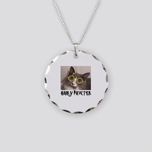 CATS - HAIRY PAWTER Necklace Circle Charm