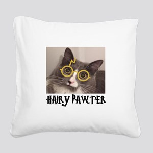 CATS - HAIRY PAWTER Square Canvas Pillow