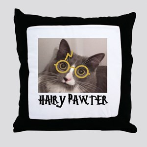 CATS - HAIRY PAWTER Throw Pillow