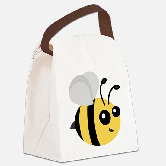 Cute Cartoon Bee Canvas Lunch Bag