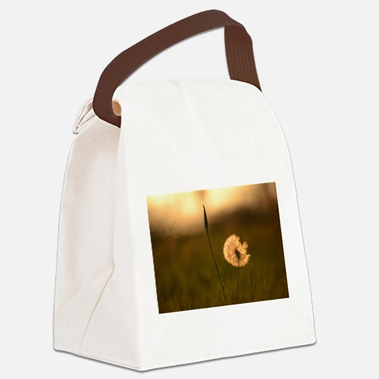 Dream Flower Canvas Lunch Bag