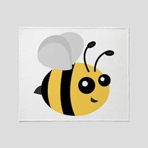 Cute Cartoon Bee Throw Blanket