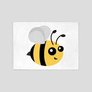 Cute Cartoon Bee 5'x7'Area Rug