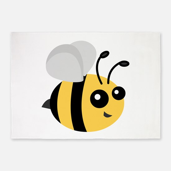 Cute Cartoon Bee 5'x7'Area Rug