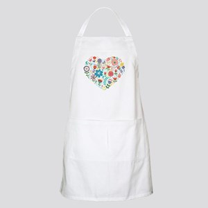 Cute Colorful Floral Heart Apron