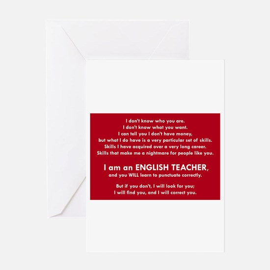 I will find you Punctuate Correctly Greeting Cards
