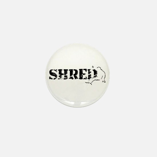 snowboard shred by asyrum Mini Button