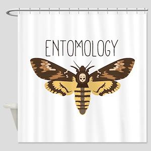 Death Head Moth Shower Curtains