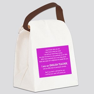 I will find you Punctuate Correct Canvas Lunch Bag