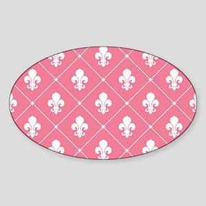 Pink Fleur De Lis Pattern Sticker
