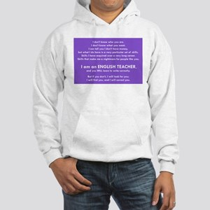 I will find you Write Correctly Hooded Sweatshirt