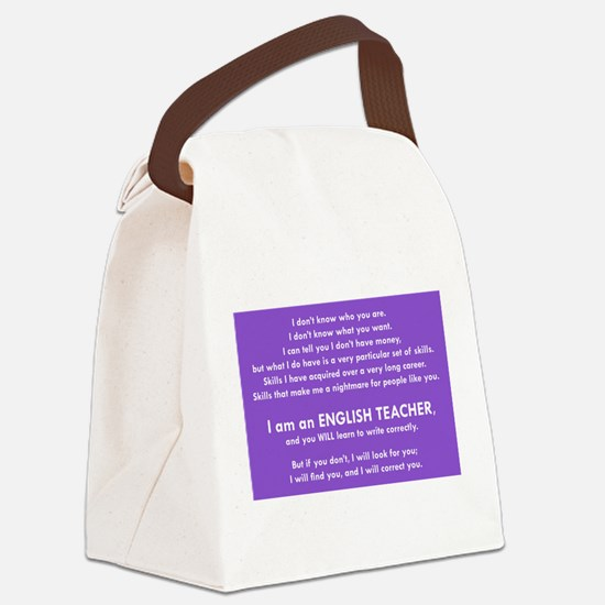 I will find you Write Correctly Canvas Lunch Bag