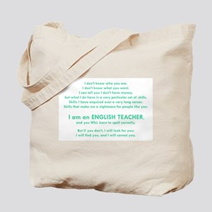 I will find you Spell Correctly Tote Bag
