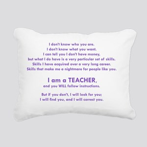 I will find you Follow I Rectangular Canvas Pillow