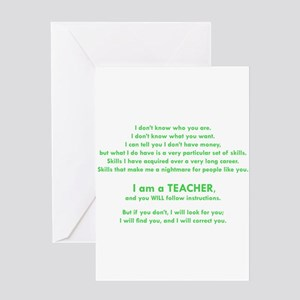I will find you Follow Instructions Greeting Cards
