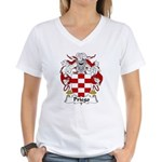 Priego Family Crest Women's V-Neck T-Shirt