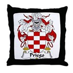 Priego Family Crest Throw Pillow