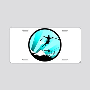 ski jumper Aluminum License Plate