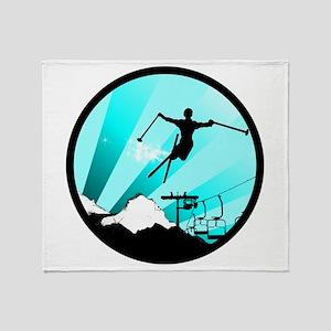 ski jumper Throw Blanket