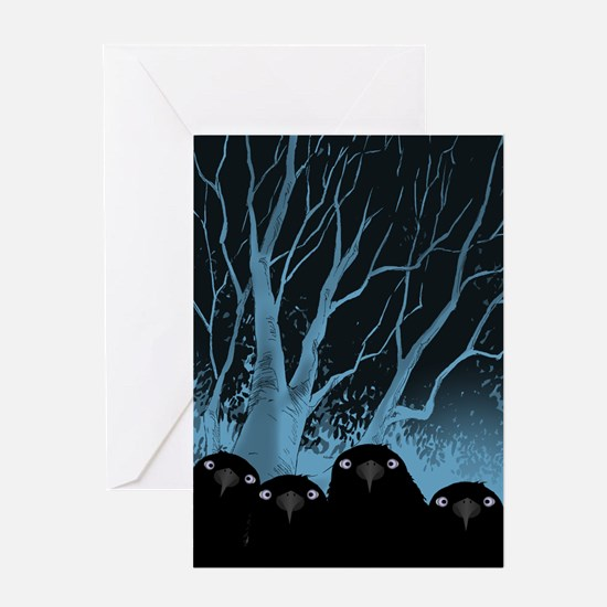 Eating Crow Greeting Cards