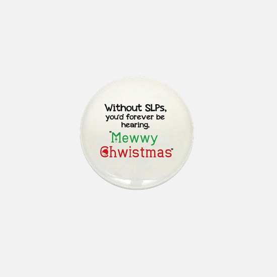 Mewwy Chwistmas Mini Button (10 Pack)