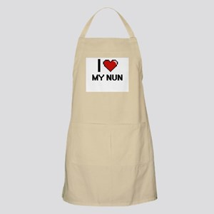 I Love My Nun Apron