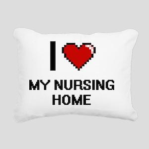 I Love My Nursing Home Rectangular Canvas Pillow