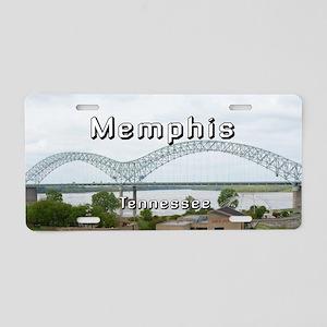 Memphis Aluminum License Plate