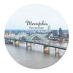 Memphis Round Car Magnet
