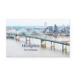Memphis Rectangle Car Magnet
