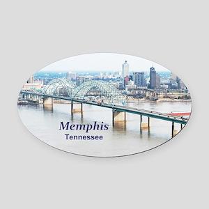 Memphis Oval Car Magnet