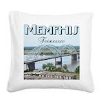 Memphis Square Canvas Pillow