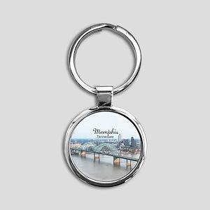 Memphis Round Keychain