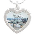 Memphis Silver Heart Necklace