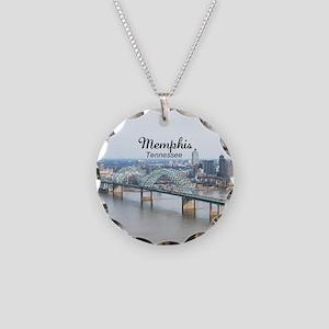 Memphis Necklace Circle Charm