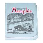 Memphis baby blanket