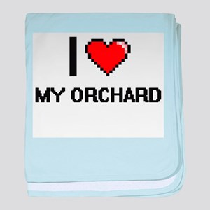 I Love My Orchard baby blanket
