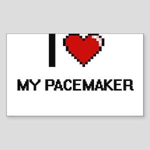 I Love My Pacemaker Sticker