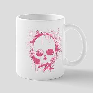 Pink Sprayed Skull Mugs